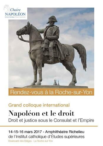 Colloque « Napoléon et le droit » (14-16/03/17) : vidéos