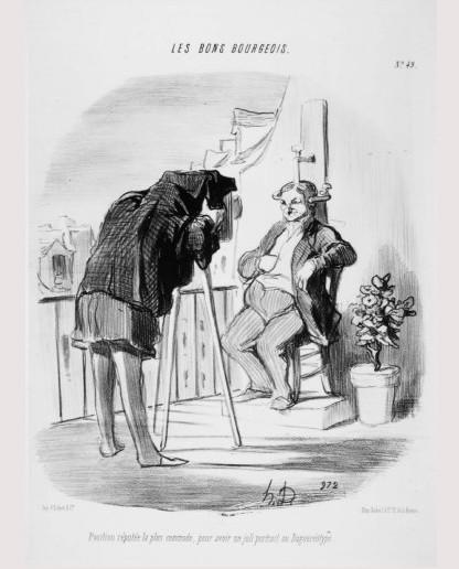 Daumier Position réputé le pus commode pour avoir un joli portrait au daguerréotype 1847