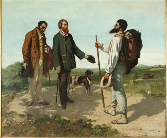 Gustave Courbet - La Rencontre dit aussi Bonjour Monsieur Courbet - 1854 © RMN grand Palais