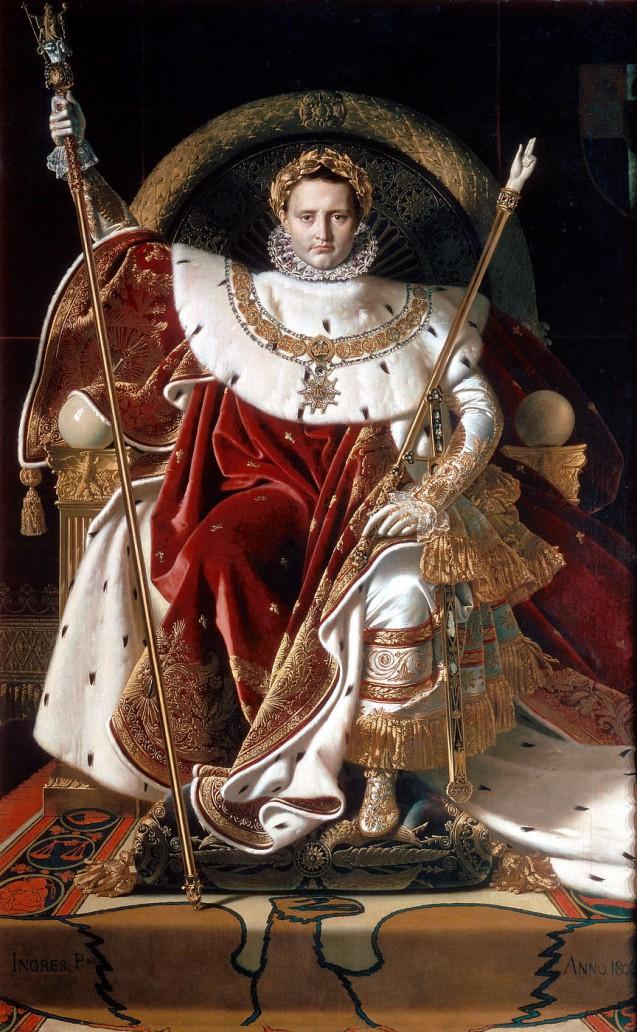 Jean Auguste Dominique Ingres - Napoléon sur le trône impérial