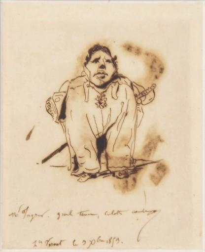 horace Vernet - Monsieur Ingres – Grande tenue, culotte courte © Musée Ingres, Montauban