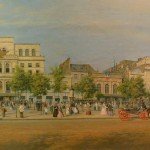 General view of the theatres of the Boulevard du Temple before the creation of the Boulevard du Prince Eugène