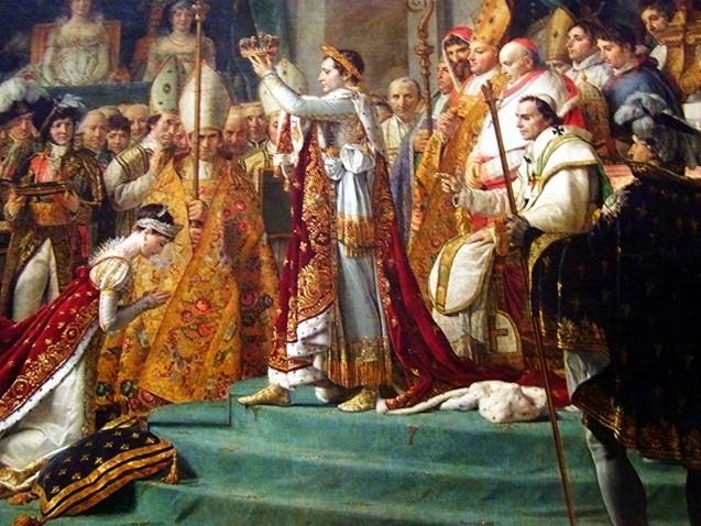 Jacques-Louis David - Le Sacre de Napoléon Ier - détail Napoléon+Joséphine