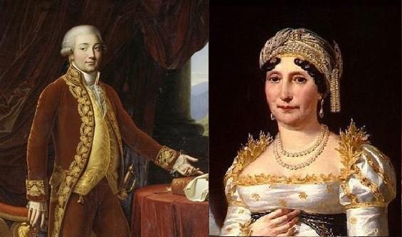 Charles et Letizia Bonaparte, les parents de Napoléon Ier
