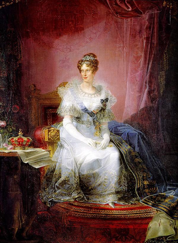 Marie-Louise représentée en duchesse de Parme en 1839 par Giovan Battista Borghesi