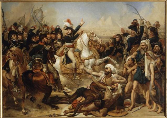Bonaparte haranguant l'armée avant la bataille des Pyramides, 21 juillet 1798 © RMN-Grand Palais (Château de Versailles) Daniel Arnaudet Jean Schormans