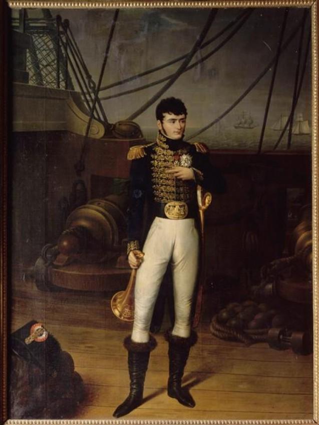 Jérôme Bonaparte sur le pont d'un bateau