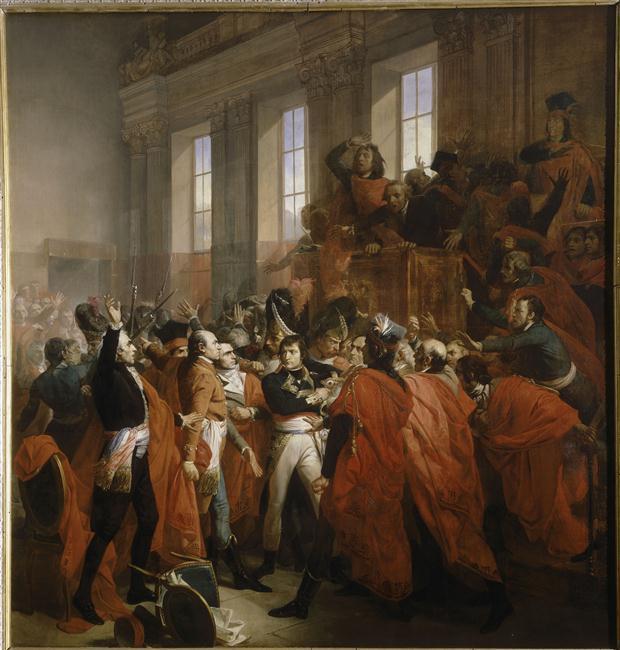 Le Dix Huit Brumaire, 10 novembre 1799. Bonaparte au conseil des Cinq-Cents à Saint-Cloud © RMN-Grand Palais (Château de Versailles) Droits réservés