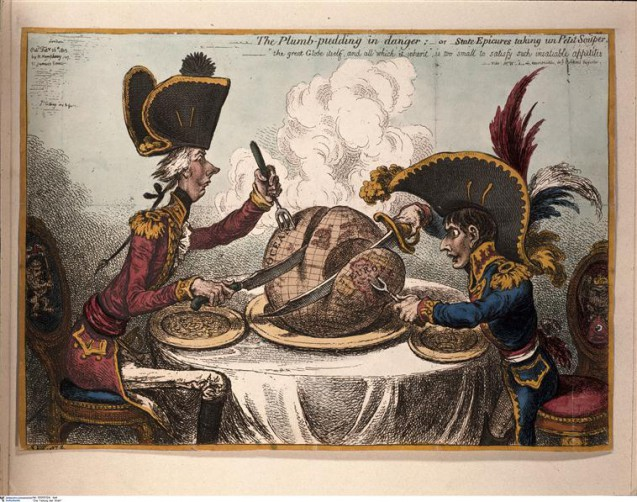 Le partage du monde - Gillray James © BPK, Berlin, Dist. RMN-Grand Palais image BPK