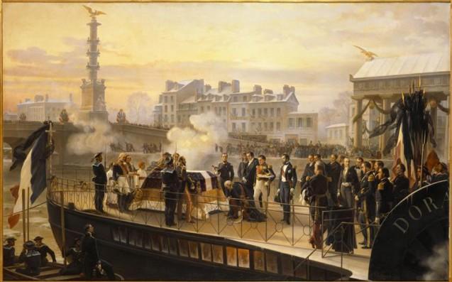 Philippoteaux Henri-Félix-Emmanuel - Le Retour des cendres de Napoléon Ier, l'arrivée de la Dorade à Courbevoie, le 14 décembre 1840 © RMN-Grand Palais (musée des châteaux de Malmaison et de Bois-Préau) Daniel