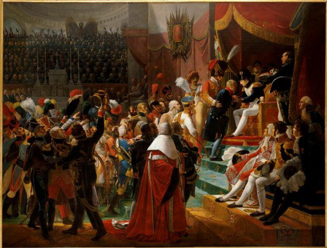 Première distribution des croix de la Légion d'Honneur en l'église des Invalides le 14 juillet 1804 © RMN-Grand Palais (Château de Versailles) Droits réservés