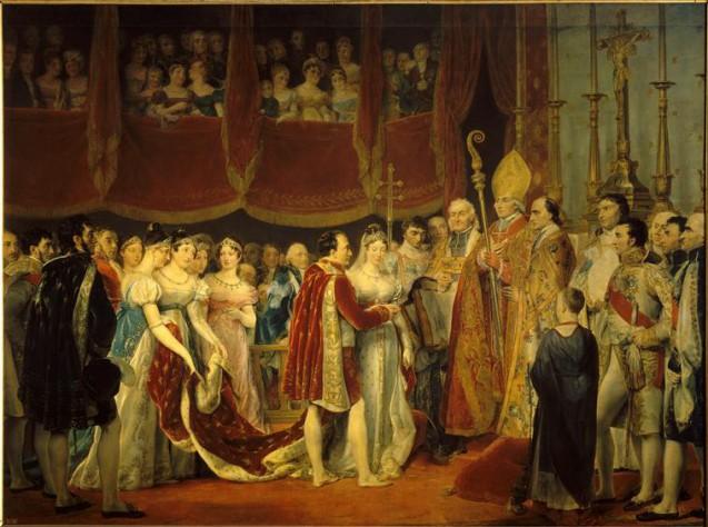 Rouget, Mariage religieux de Napoléon Ier avec l'archiduchesse Marie Louise, 2 avril 1810 dans le salon Carré du Louvre © RMN-Grand Palais (Château de Versailles) - Droits réservés