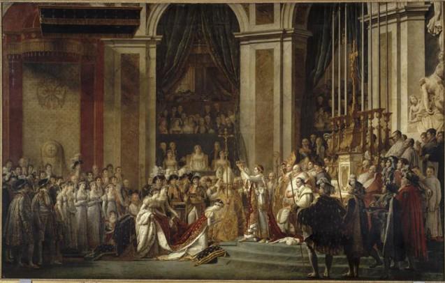 Sacre de l'empereur Napoléon et couronnement de l'impératrice Joséphine © RMN-Grand Palais (musée du Louvre) Hervé Lewandowski