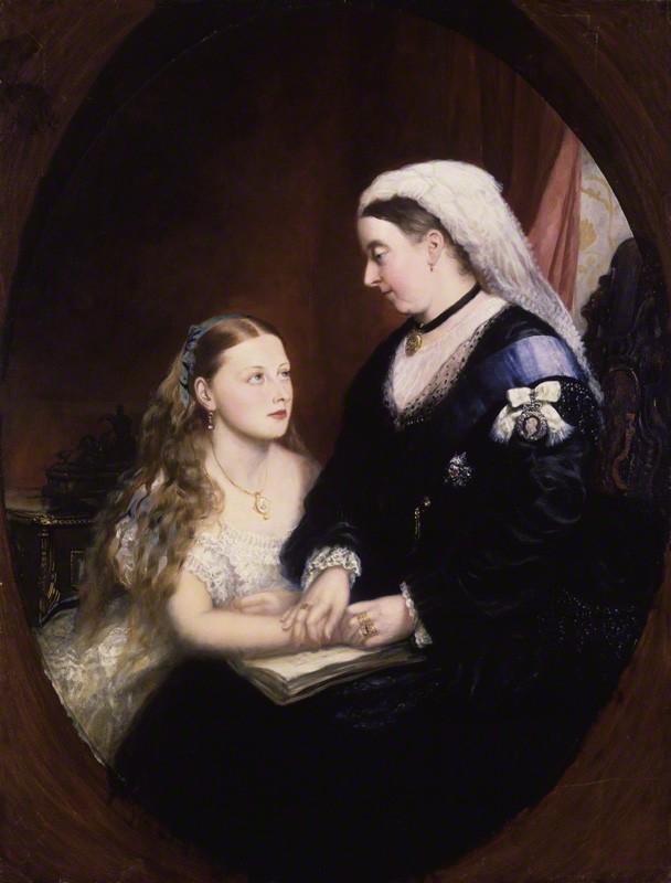 Portrait de Victoria et Béatrice du Royaume-Uni