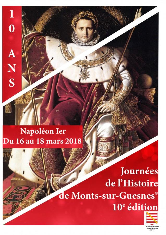 Journées de l'Histoire de Monts-sur-Guesnes > 2018 : Napoléon Ier