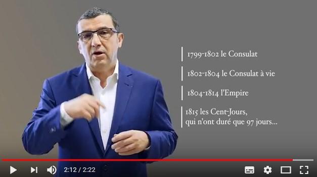 Vidéo : l'histoire de Napoléon et de son règne en moins de 3 minutes ! Mars 2018