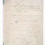 First page of the Sénatus-consulte organique du 28 floréal an XII (18 May 1804)