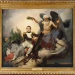 1804, le Code civil des Français >Napoléon couronné par le temps écrit le Code civil > tableau/allégorie de Mauzaisse (1833)