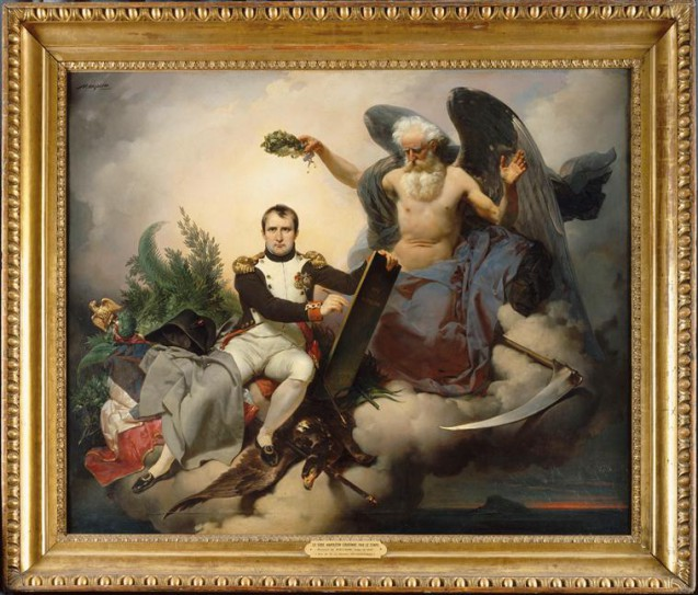 Tableau > une allégorie : Napoléon couronné par le temps écrit le Code civil