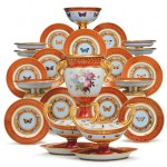 "Napoleon/Rockefeller's ""Marly Rouge"" Sevres porcelain sells for nearly 2 million dollars"