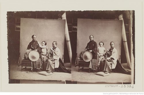 "[Paul ""Nadar"" and two members of the Japanese embassy 1862]"