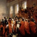 Le général Bonaparte au Conseil des Cinq-Cents, à Saint-Cloud. 10 novembre