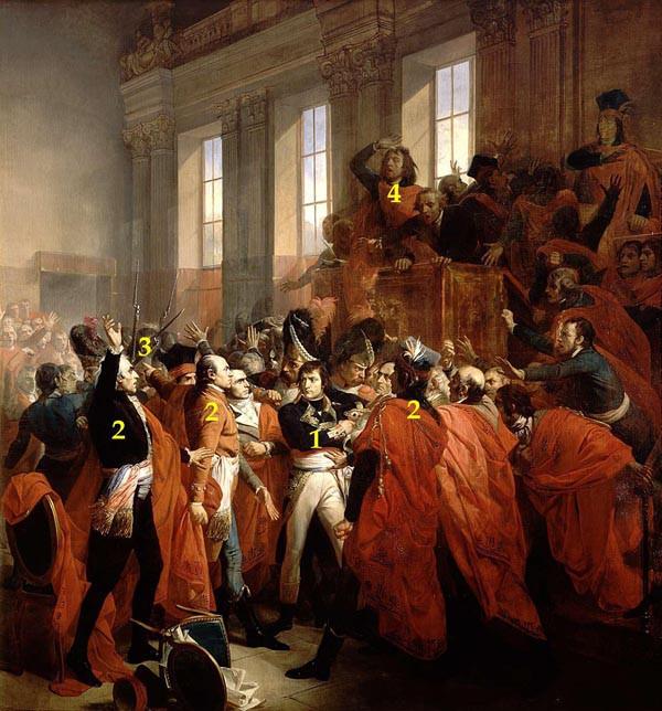 Tableau > 1799, le coup d'État du 18 Brumaire : le général Bonaparte prend le pouvoir