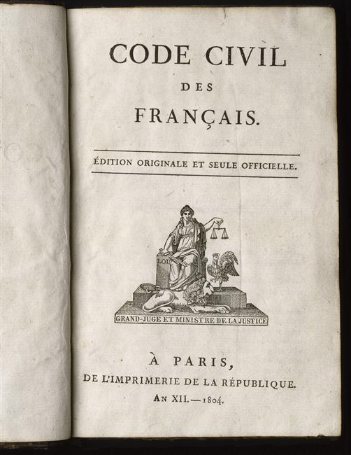 Texte > 1804, Le Code civil des Français : la même loi pour tous et partout !