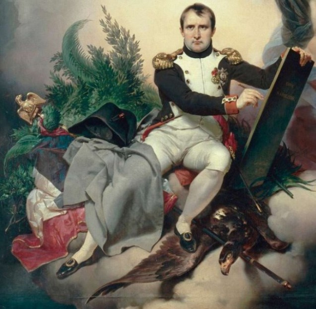 Tableau Une Allegorie Napoleon Couronne Par Le Temps Ecrit Le Code Civil Napoleon Org
