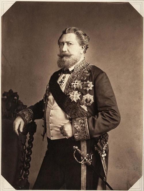 Photographie : Le comte Émilien de Nieuwerkerke (1811-1892), intendant des Beaux-arts (1853), chambellan honoraire de l'Empereur (1859)