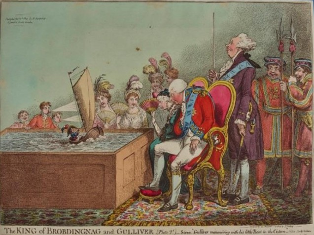 Tableau > Le petit général Bonaparte veut envahir l'Angleterre ! (une caricature anglaise)