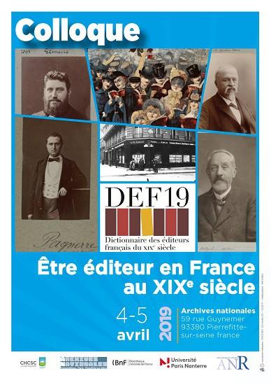 Être éditeur en France au XIXe siècle
