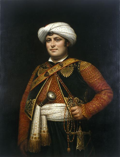 Portrait de Raza Roustam, mamelouk et garde du corps de Napoléon Ier