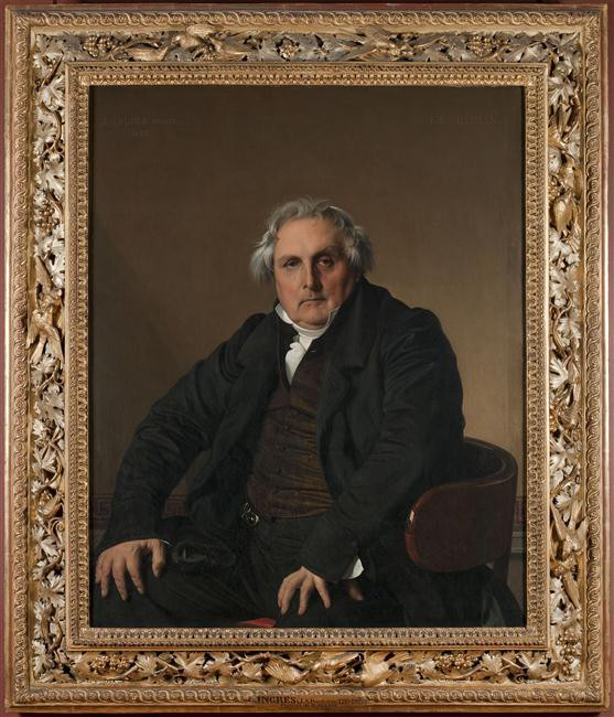 Portrait de Louis-François BERTIN, Jean-Auguste-Dominique INGRES, 1832 © Musée du Louvre, Dist. RMN-Grand Palais - Angèle Dequier