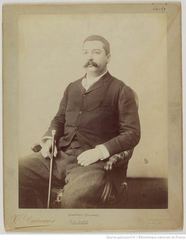 Portrait de Roland Bonaparte, par Victor Daireaux © Bibliothèque nationale de France, département Société de Géographie