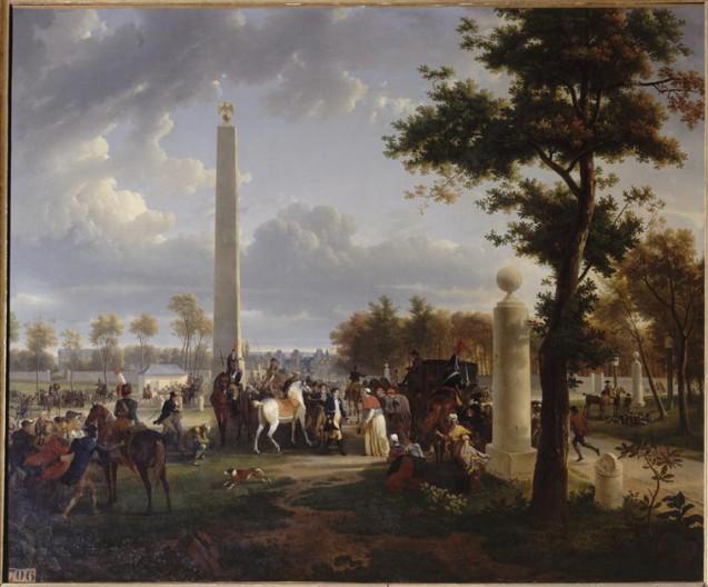Rencontre de Napoléon et du pape Pie VII, le 25 novembre 1804, Jean-Louis Demarne, 1808 © Rmn - château de Fontaniebleau