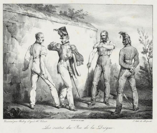Suite du jeu de la drogue, Lithographie H. Vernet, avril 1818 © BnF