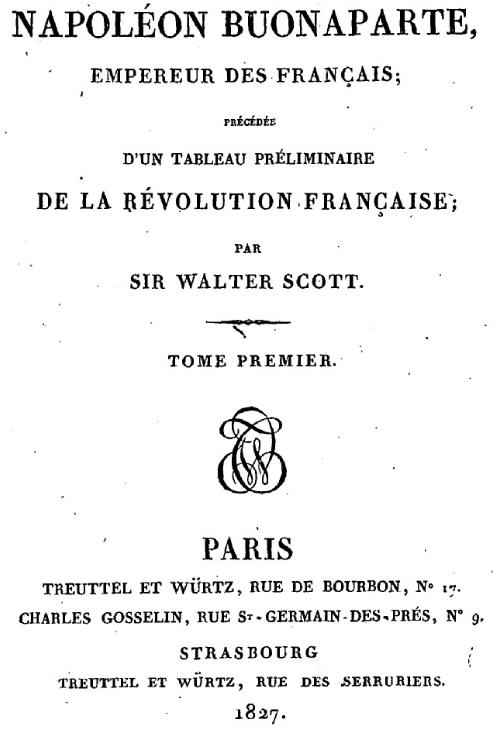 Libraires et éditeurs de Napoléon Ier : Treuttel & Würtz