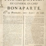 Bonaparte's Proclamation to the French people on 19 Brumaire