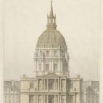 Église Saint-Louis des Invalides, élévation façade, en septembre 1864