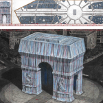 The Arc de Triomphe, Wrapped (a project for Paris) imagined by Christo and Jeanne-Claude