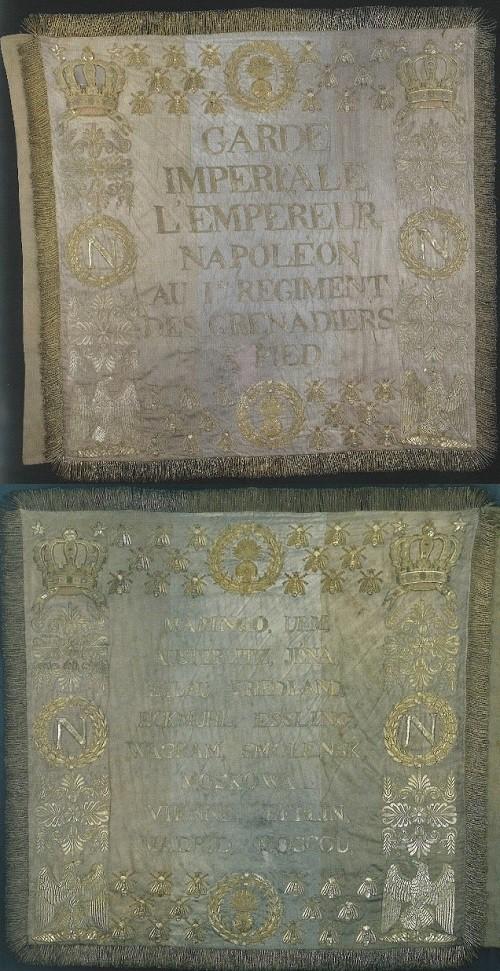 Le drapeau modèle 1812 : le drapeau des adieux de Napoléon à Fontainebleau