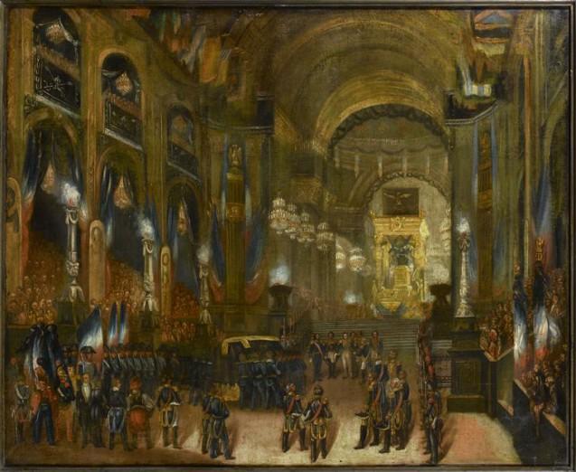 d'après Jean Baptiste Arnout, L'arrivée du corps de l'Empereur dans l'église saint-Louis des Invalides © RMN-Grand Palais (musées de l'Île d'Aix) - Gérard Blot