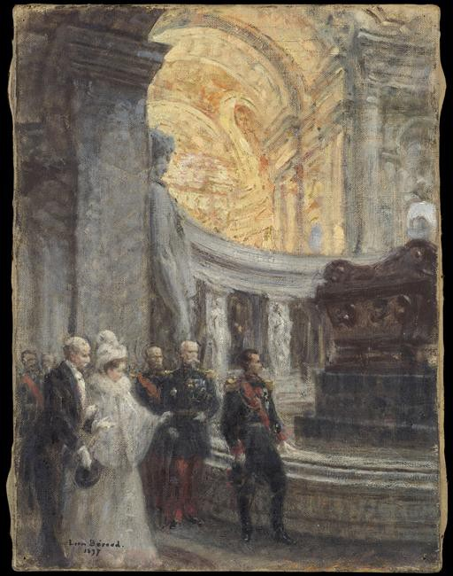 Louis Beroud, Nicolas II au tombeau de Napoléon Ier, aux Invalides 1897 © Paris - Musée de l'Armée, Dist. RMN-Grand Palais Emilie Cambier