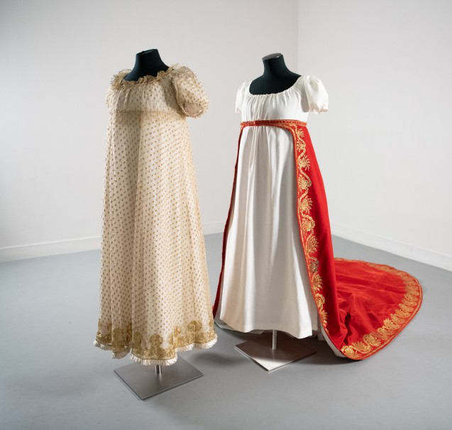 Madame Bérenger's court dress and train
