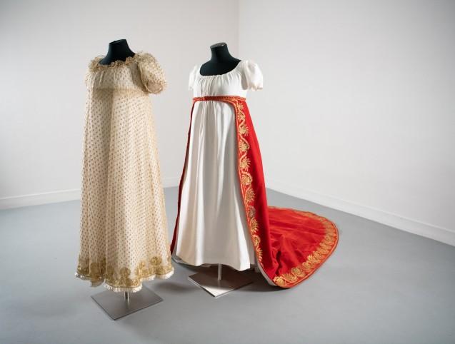 Robe et traîne de Madame Bérenger<br> © Fondation Napoléon/Rebecca Young