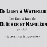 Blücher et Napoléon au mémorial de Waterloo 1815