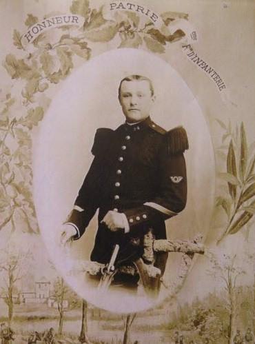 Portrait en uniforme de Charles Lavocat, dont le squelette a été découvert à Spincourt en 2017 dans un cimetière provisoire datant de 1919. Identifié très récemment par l'INPS Marseille © François-Xavier GRIMAUD/Estrepublicain.fr
