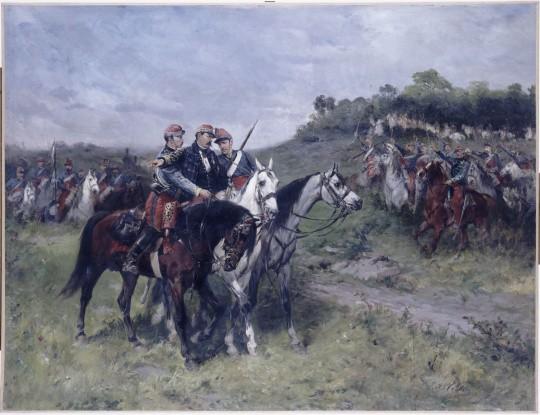 Le général Margueritte mortellement blessé à Floing (bataille de Sedan), le Ier septembre 1870, par James Alexandre Walker © Paris - Musée de l'Armée, Dist. RMN-Grand Palais / Pascal Segrette