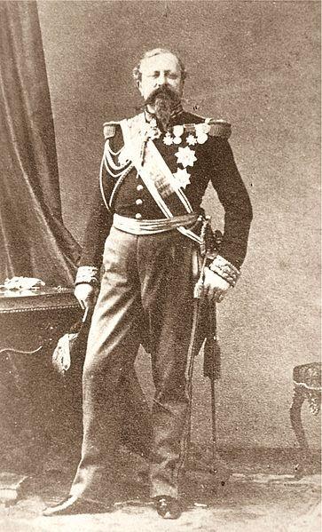 Edmond Le Boeuf, portrait carte de visite, artiste inconnu © Wikipedia